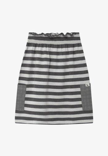 REVERSIBLE STRIPE MIDI - A-line skirt - monochrome
