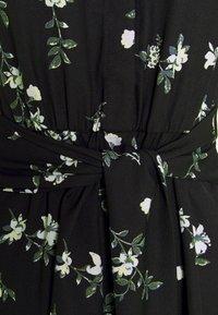 Vero Moda - VMFALLIE LONG TIE DRESS - Blousejurk - black - 6