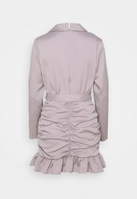 Missguided Petite - RUCHED FRILL BLAZER DRESS - Cocktail dress / Party dress - grey - 1