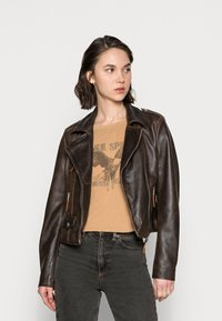 Freaky Nation - BESTIE - Leather jacket - antique brown - 0
