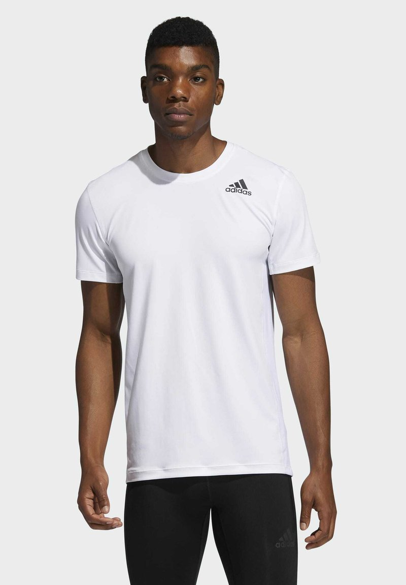 adidas Performance - TECHFIT COMPRESSION T-SHIRT - T-shirt - bas - white