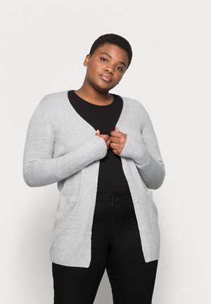 VMDOFFY OPEN - Cardigan - light grey melange