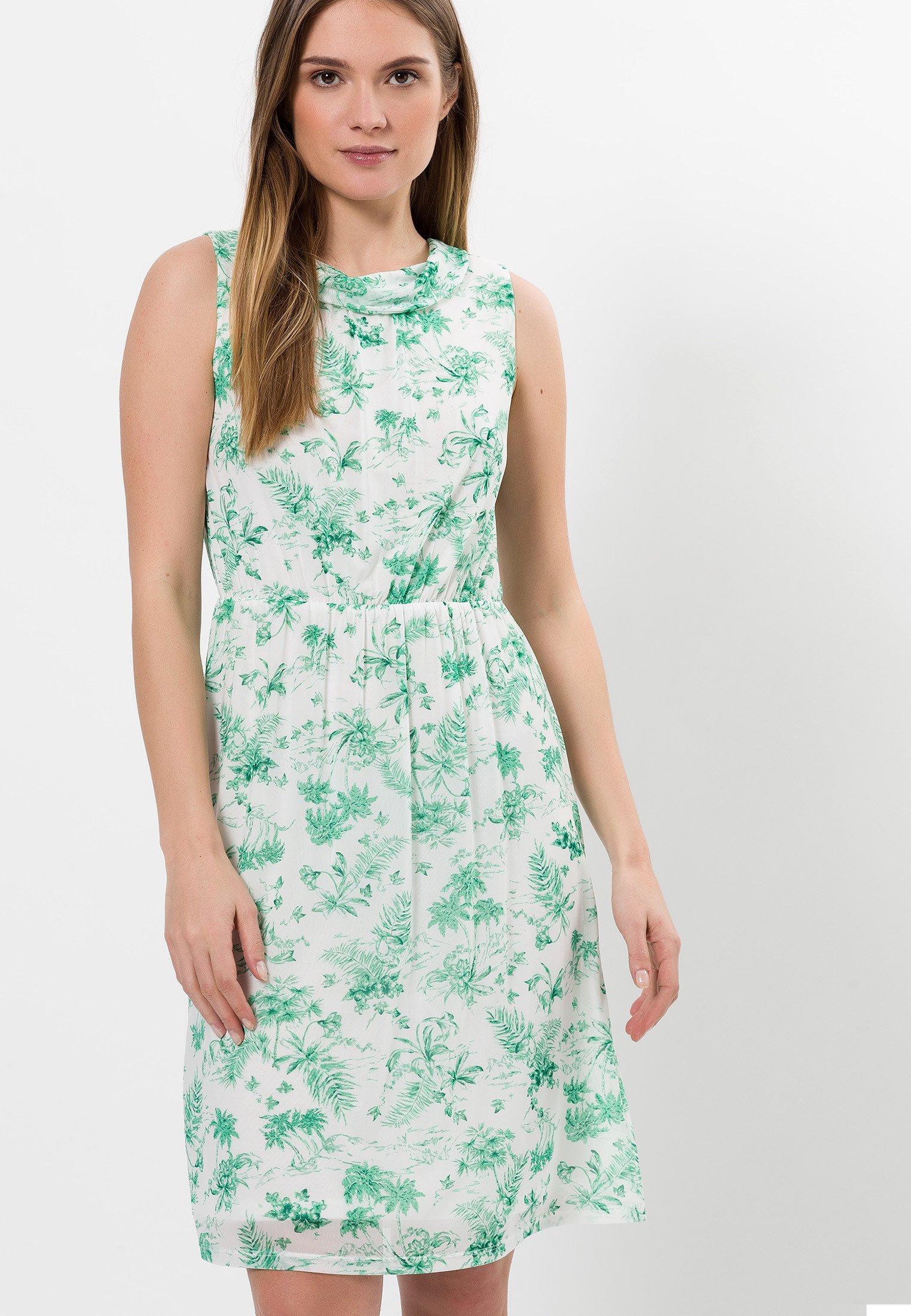 Zero Kleid Mit Blumendruck Jerseykleid Peppermint Turkis Zalando De