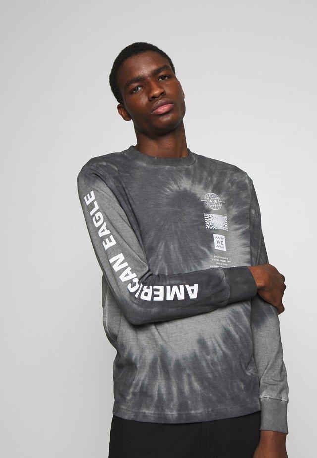 BOUND NECK TEE - Maglietta a manica lunga - gray