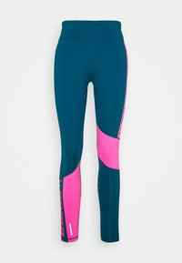 Puma - TRAIN LOGO HIGH RISE - Tights - digi blue/luminous pink - 4