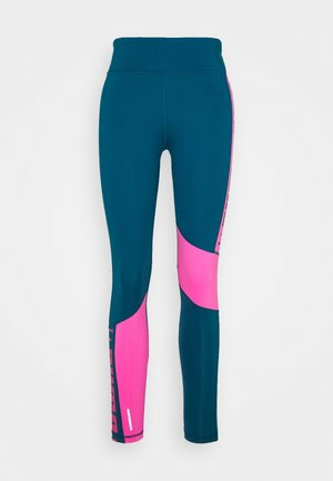TRAIN LOGO HIGH RISE - Tights - digi blue/luminous pink