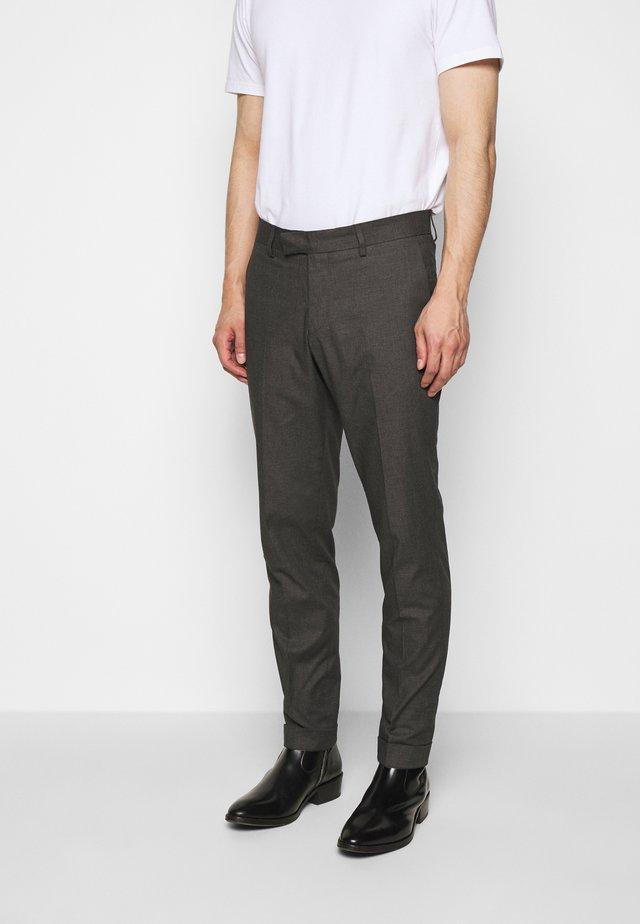 TILMAN - Tygbyxor - med grey melange