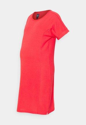 ROLL CUFF ZIP ACCESS NURSING DRESS - Jumper dress - rose bush