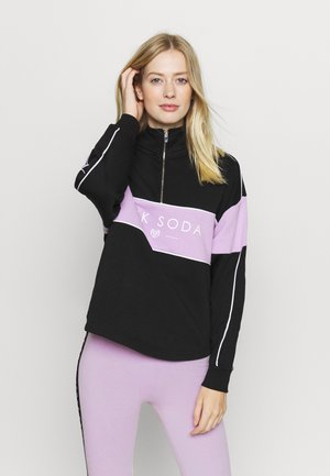 BREEZE ZIP  - Sweatshirt - black/lilac