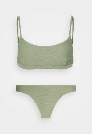 BRALETTE HIGH WAISTED PANT SET - Bikini - khaki