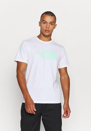 EASY TEE - Triko spotiskem - white/surf green