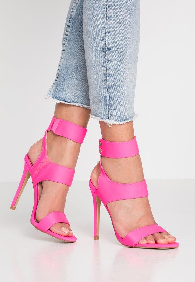 PULSE - High Heel Sandalette - neon pink