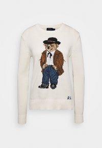 Polo Ralph Lauren - BEAR CLASSIC LONG SLEEVE - Strikpullover /Striktrøjer - chic cream - 0