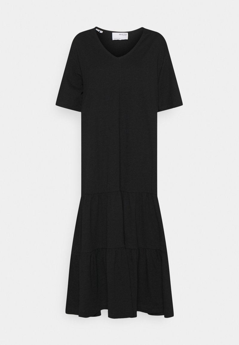 Selected Femme - SLFREED MIDI DRESS - Maxi dress - black