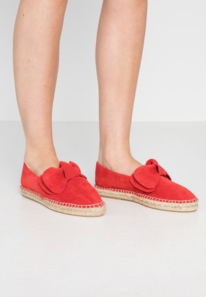 LEATHER - Espadrilky - red