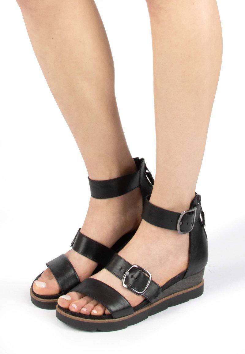 MJUS - Platform sandals - nero