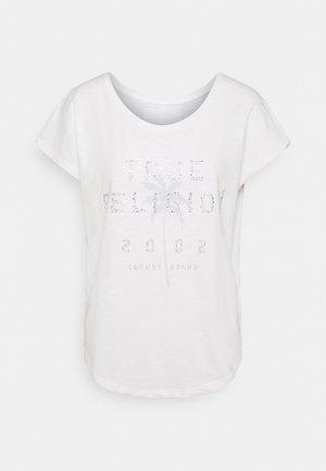 BOXY CREW NECK PALM TREE  - T-shirt imprimé - blanc