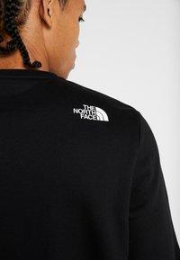 The North Face - CANYONWALL CREW - Sweatshirt - black/deep garnet red - 5