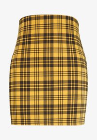 New Look - AMARI CHECK TUBE - Miniskjørt - yellow - 3