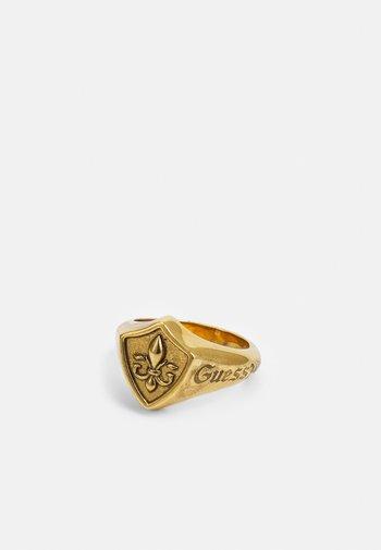 SHIELD SIGNET GIGLIO - Sormus - antique gold-coloured
