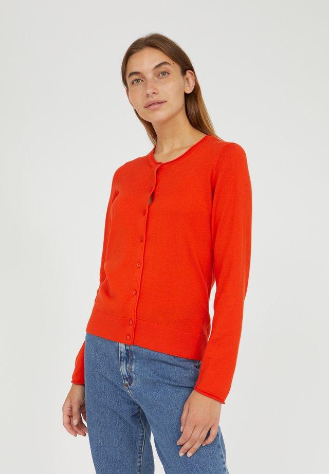 ZINAA - Cardigan - glossy orange
