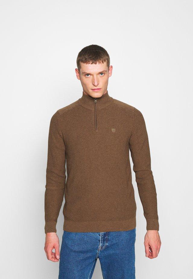 Jumper - mottled brown