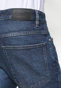 CLOSED - DROP CROPPED - Džíny Slim Fit - dark blue - 4