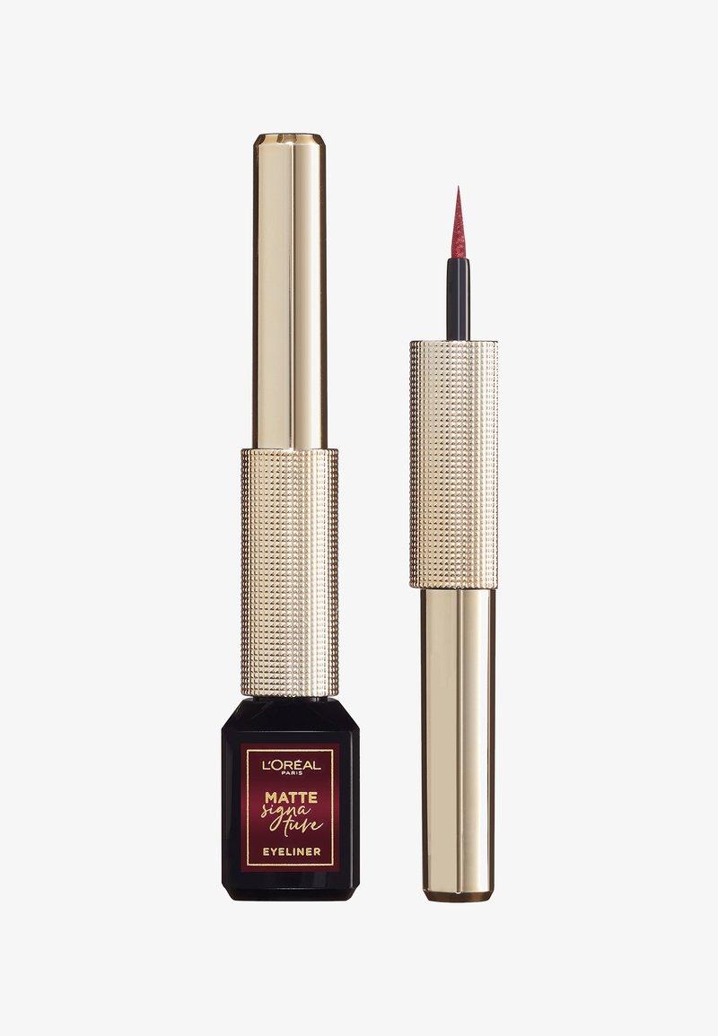 L'Oréal Paris - MATTE SIGNATURE EYELINER - Eyeliner - 05 burgundy