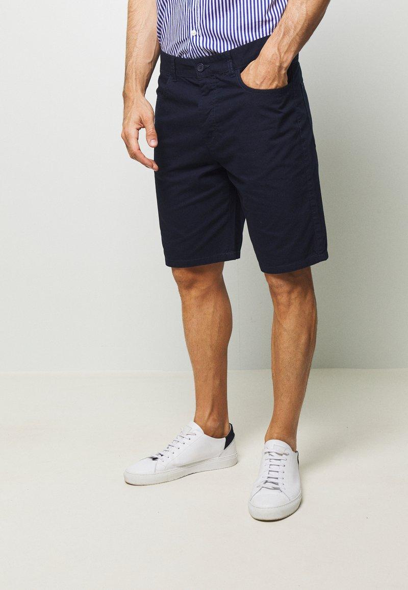 Benetton - BASIC CHINO - Shorts - dark blue