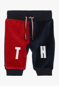 Tommy Hilfiger - BABY COLORBLOCK - Trousers - black iris - 0