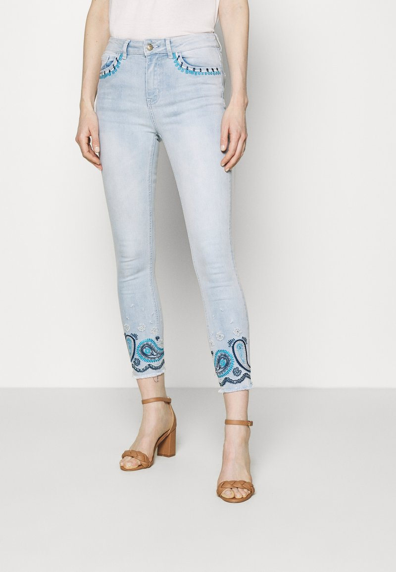 Desigual - DENIM_ANKLE PAISL - Jeans Skinny Fit - blue