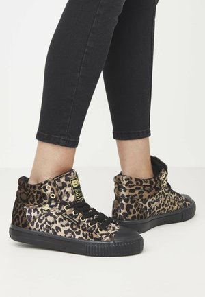 DEE - Korkeavartiset tennarit - rust leopard/gold/black