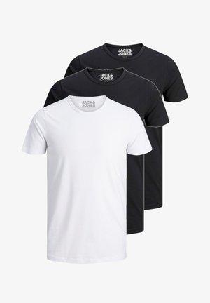 3 PACK O-NECK - Basic T-shirt - black/black/white