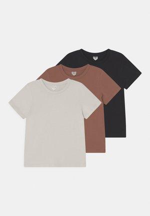 3 PACK UNISEX - Basic T-shirt - sand