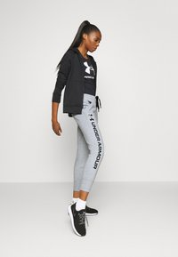 Under Armour - RIVAL SHINE JOGGER - Teplákové kalhoty - steel medium heather - 1