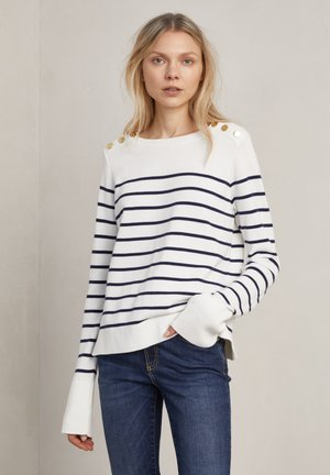 Jumper - o w navy stripe