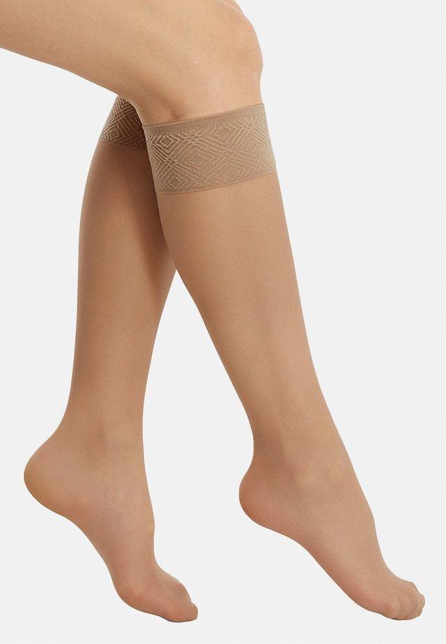 Knee high socks - nude