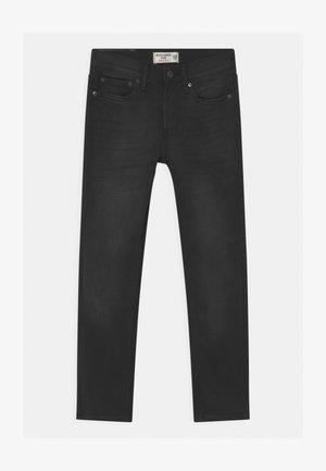 SKINNY WASHED  - Straight leg jeans - black denim