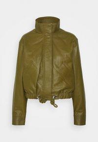 Proenza Schouler White Label - LIGHTWEIGHT DRAWSTRING WAIST JACKET - Leather jacket - military - 7