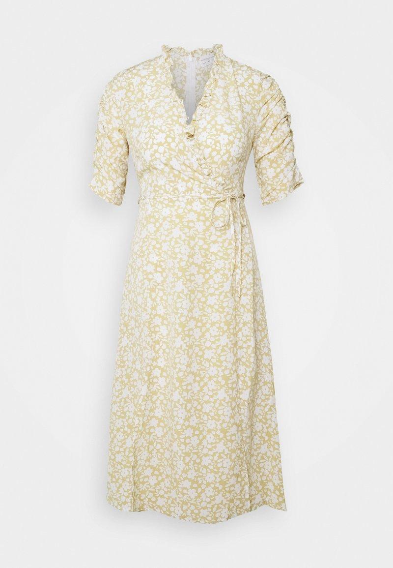 Glamorous Petite - DITSY MIDI WRAP DRESS PETITE - Kjole - beige