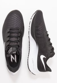 Nike Performance - AIR ZOOM PEGASUS 37 - Neutral running shoes - black/white - 1