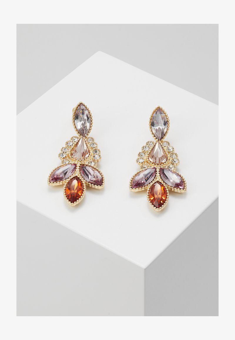 ONLY - ONLKAIYA EARRING - Oorbellen - gold-coloured/pink/red/clear