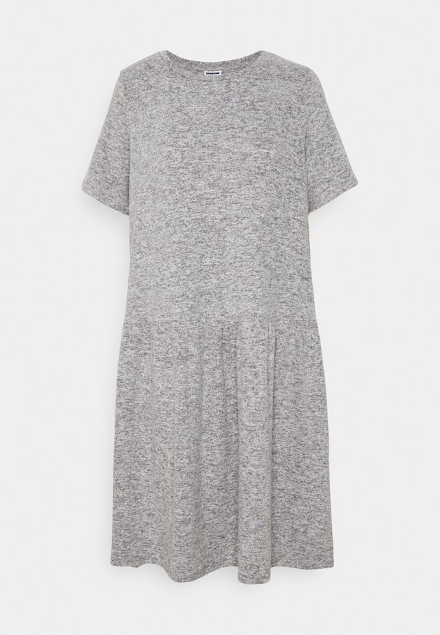 NMJOSE LOOSE DRESS - Pletené šaty - dark grey melange