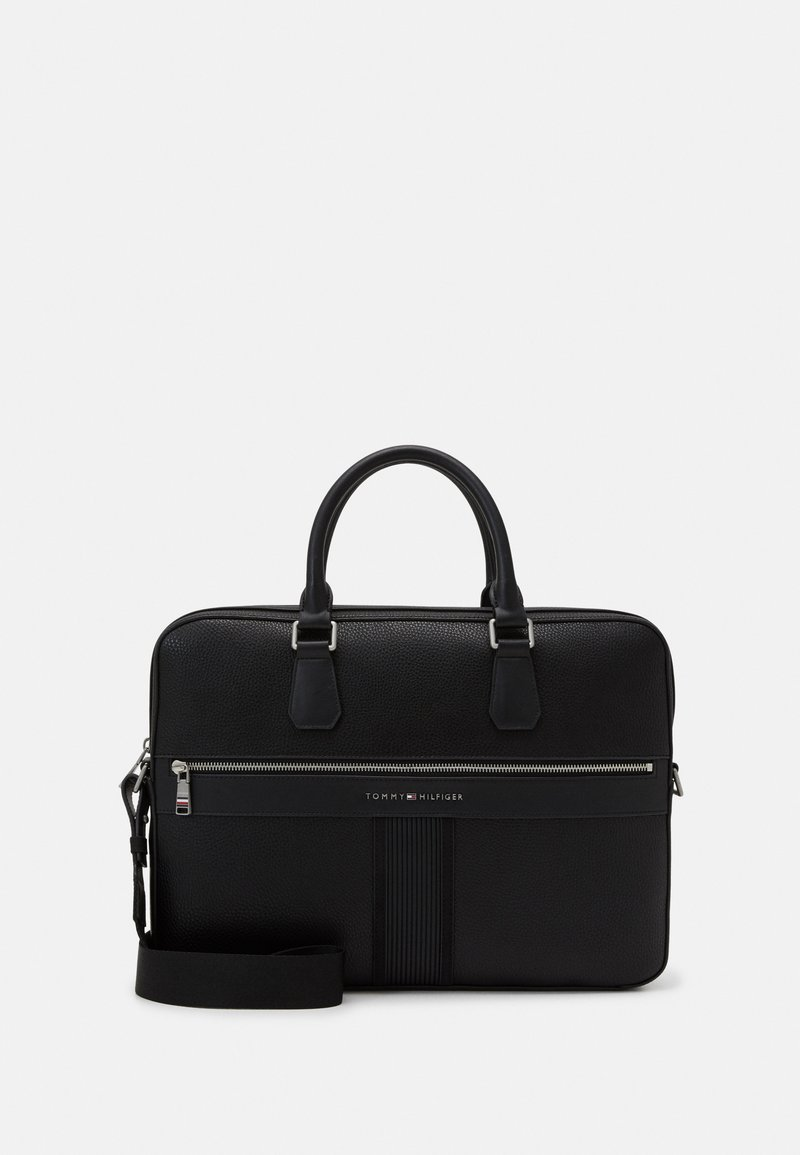 Tommy Hilfiger - DOWNTOWN SLIM COMPUTER BAG UNISEX - Aktówka - black