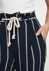 Oui - Trousers - dark blue white - 3