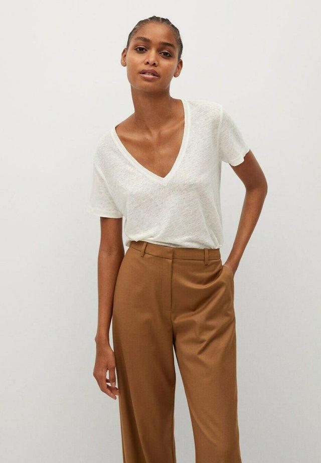 LINITO - T-shirt basic - gebroken wit