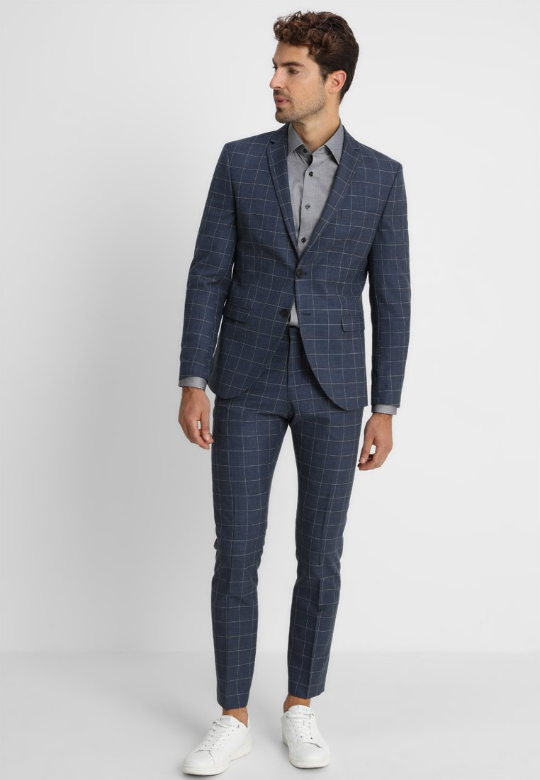 Selected Homme - SLHONE-MYLOAIR CHECK SUIT - Garnitur - dark blue