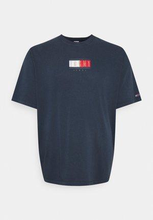 PLUS VINTAGE FLAG TEE - T-shirt print - twilight navy