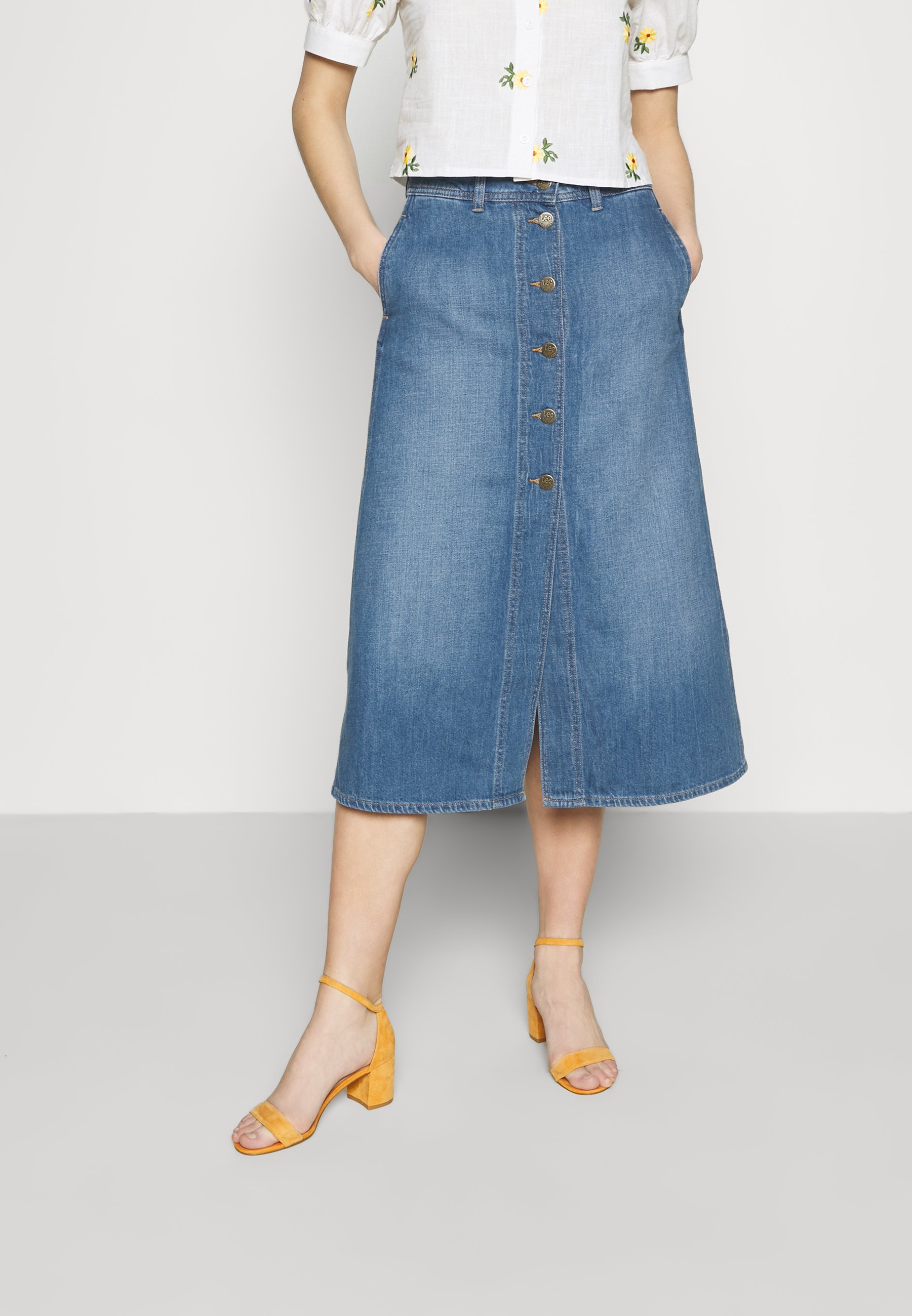 Femme BUTTON THROUGH - Jupe en jean