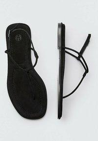 Massimo Dutti - T-bar sandals - black - 5